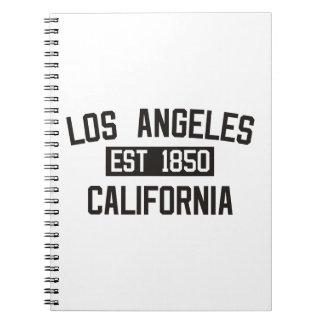 Los Ángeles - California Libros De Apuntes Con Espiral