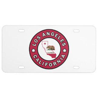 Los Angeles California License Plate