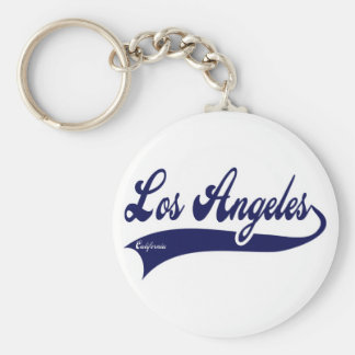 Los Ángeles California Llavero Redondo Tipo Pin