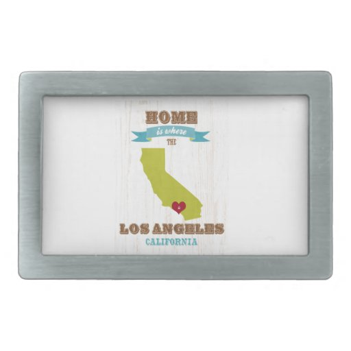 Los Angeles, California Map – Home Is Where Belt Buckles