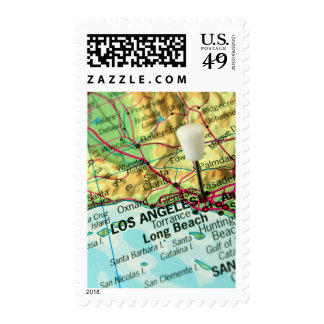 Los Angeles, California Map Postage