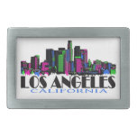 Los Angeles California neon skyline Belt Buckle