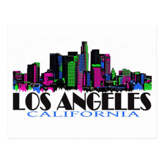 Los Angeles California neon skyline Postcard