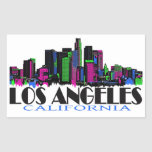 Los Angeles California neon skyline Sticker