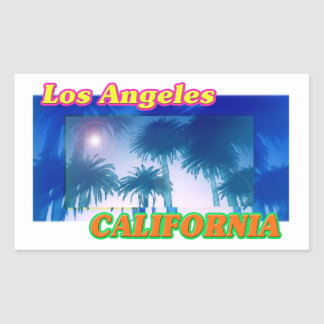 """Los Angeles CALIFORNIA"" Palm Trees Sticker"