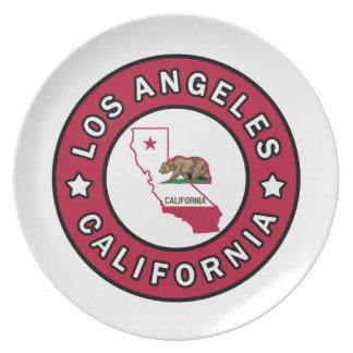 Los Ángeles California Plato De Cena