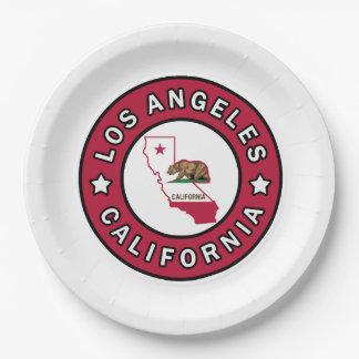 Los Ángeles California Platos De Papel