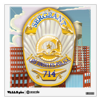 Los Angeles California Police Badge. Wall Sticker