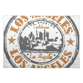 Los Angeles California Pride Seal Cloth Placemat