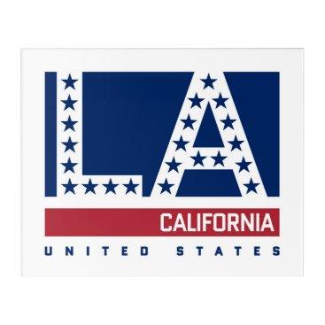 USA Themed Los Angeles, California | Red,White & Blue Skyline Acrylic Print
