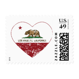 Los Angeles California Republic Heart Postage Stamp
