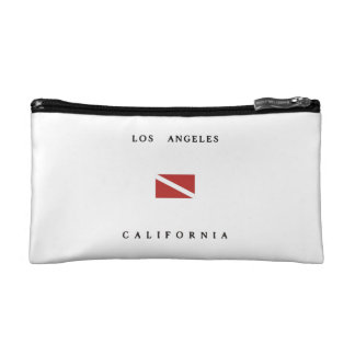 Los Angeles California Scuba Dive Flag Cosmetic Bag