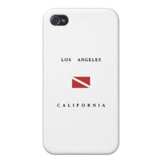 Los Angeles California Scuba Dive Flag iPhone 4 Cases
