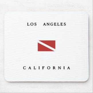 Los Angeles California Scuba Dive Flag Mouse Pad