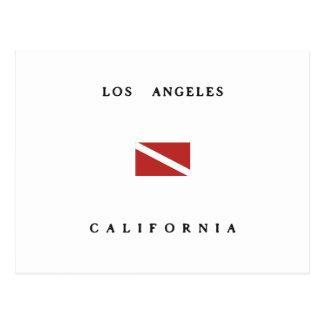 Los Angeles California Scuba Dive Flag Postcard