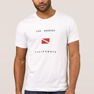 Los Angeles California Scuba Dive Flag T-shirt