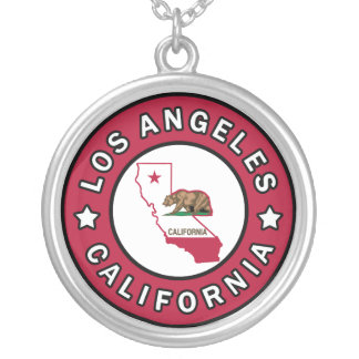 Los Angeles California Silver Plated Necklace