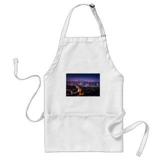 Los Angeles, California Skyline at night Adult Apron