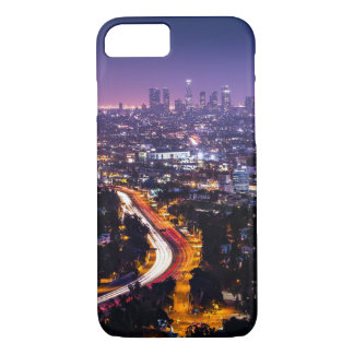 Los Angeles, California Skyline at night iPhone 8/7 Case