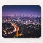 Los Angeles, California Skyline at night Mouse Pad