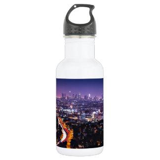 Los Angeles, California Skyline at night 18oz Water Bottle