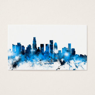 Los Angeles California Skyline Business Card
