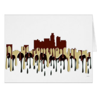 LOS ANGELES, CALIFORNIA SKYLINE - CC CARD