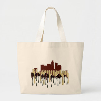 LOS ANGELES, CALIFORNIA SKYLINE - CC LARGE TOTE BAG
