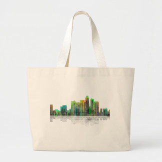 Los Angeles California Skyline Large Tote Bag