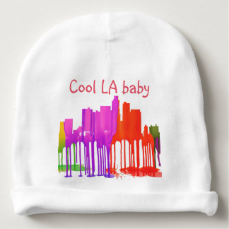 LOS ANGELES, CALIFORNIA SKYLINE PUDDLES - BABY BEANIE