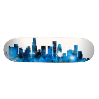 Los Angeles California Skyline Skateboard