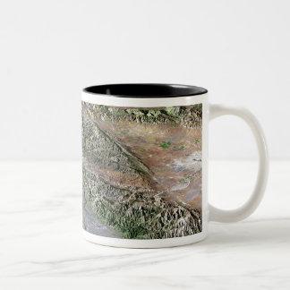 Los Angeles, California Two-Tone Coffee Mug