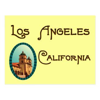 Los Angeles California Vintage Mission Postcard