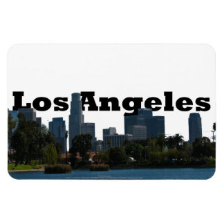 Los Angeles California with Los Angeles in the Sky Rectangular Photo Magnet