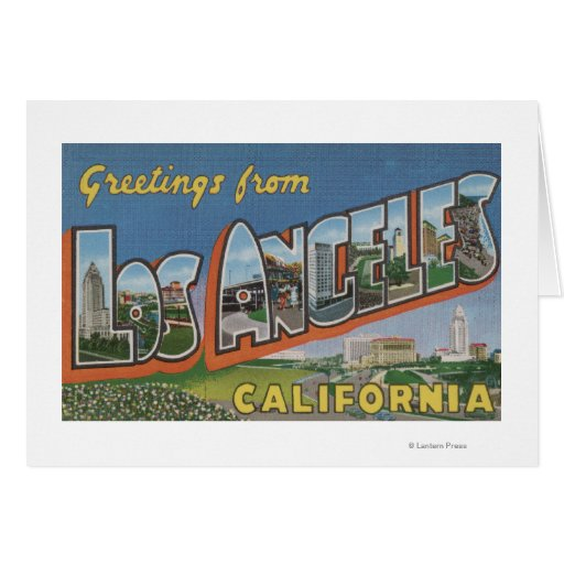 Los Angeles, CaliforniaLarge Letter Scenes Cards