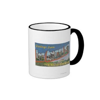 Los Angeles, CaliforniaLarge Letter Scenes Ringer Coffee Mug