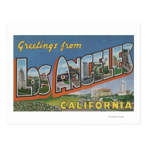 Los Angeles, CaliforniaLarge Letter Scenes Postcards