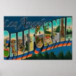 Los Angeles, CaliforniaLarge Letter Scenes Print