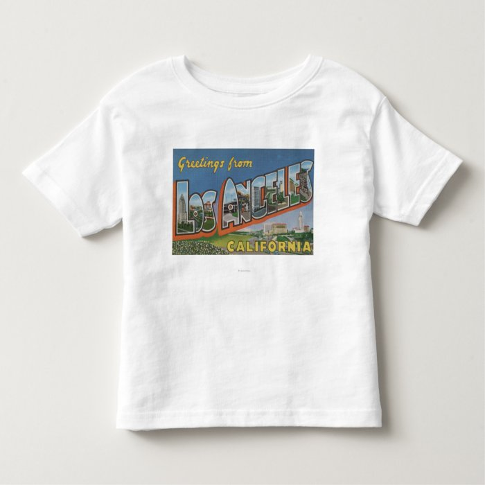 Los Angeles, CaliforniaLarge Letter Scenes Toddler T-shirt