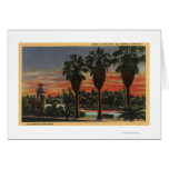 Los Angeles, CaliforniaSunset in Echo Park Cards