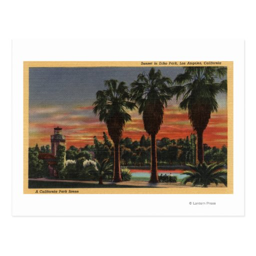 Los Angeles, CaliforniaSunset in Echo Park Post Card