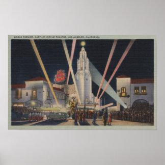 Los Ángeles, CAPremier, teatro del círculo de Cart Póster