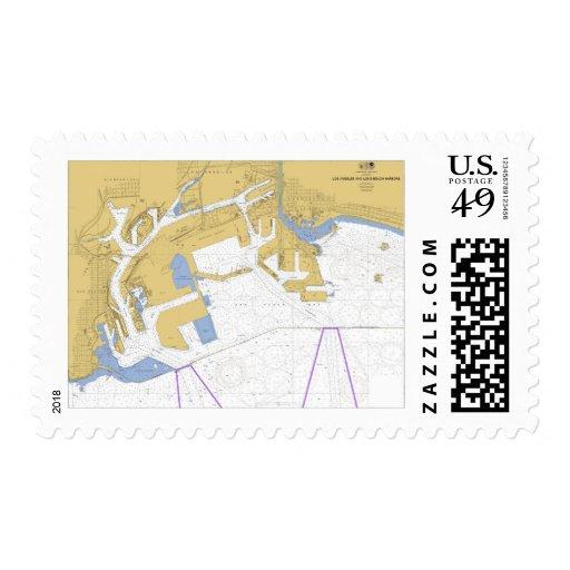 Los Ángeles, carta náutica del puerto de CA Franqueo