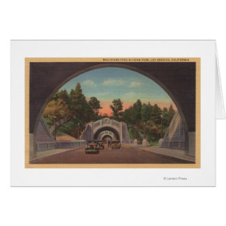 Los Angeles, CATunnel View of Elysian Park Card