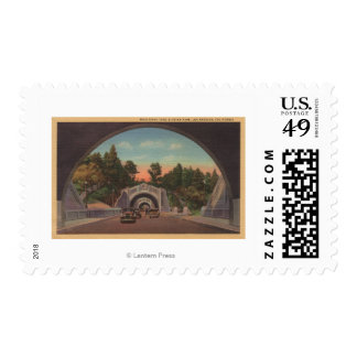 Los Angeles, CATunnel View of Elysian Park Postage Stamp