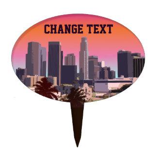 Los Ángeles céntrico - imagen adaptable Decoración Para Tarta