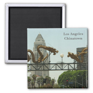 Los Angeles Chinatown Magnet! 2 Inch Square Magnet