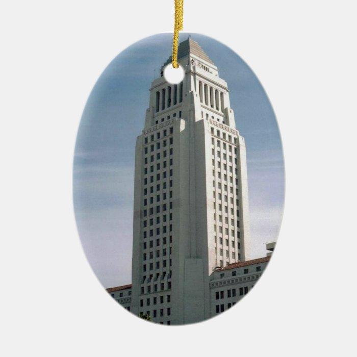 Los Angeles City Hall Ceramic Ornament