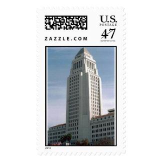 Los Angeles City Hall Postage Stamp
