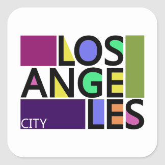 Los Angeles City Modern Typography Stickers